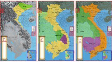 Bản đồ lãnh thổ Việt Nam qua các thời kỳ (Phần 3)
