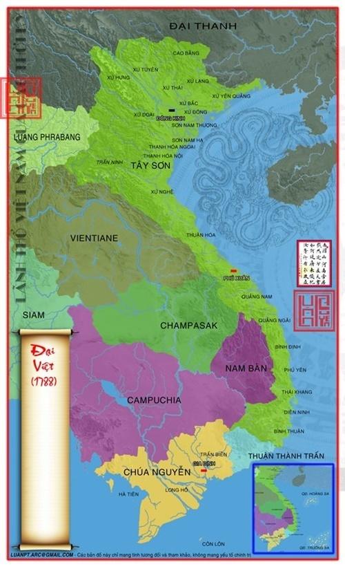 bản đồ lãnh thổ Việt Nam qua các thời kỳ 50